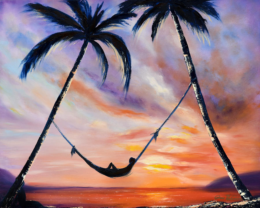 Sunset Painting - Living The Dream by Gina De Gorna