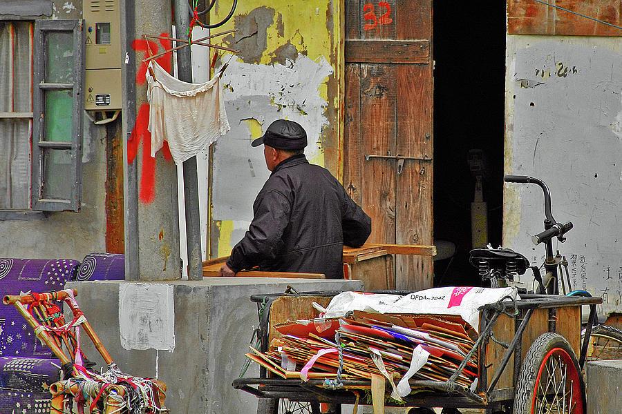 Street Scene Photograph - Living The Old Shanghai Life by Christine Till