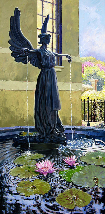 Angel Painting - Living Waters by John Lautermilch