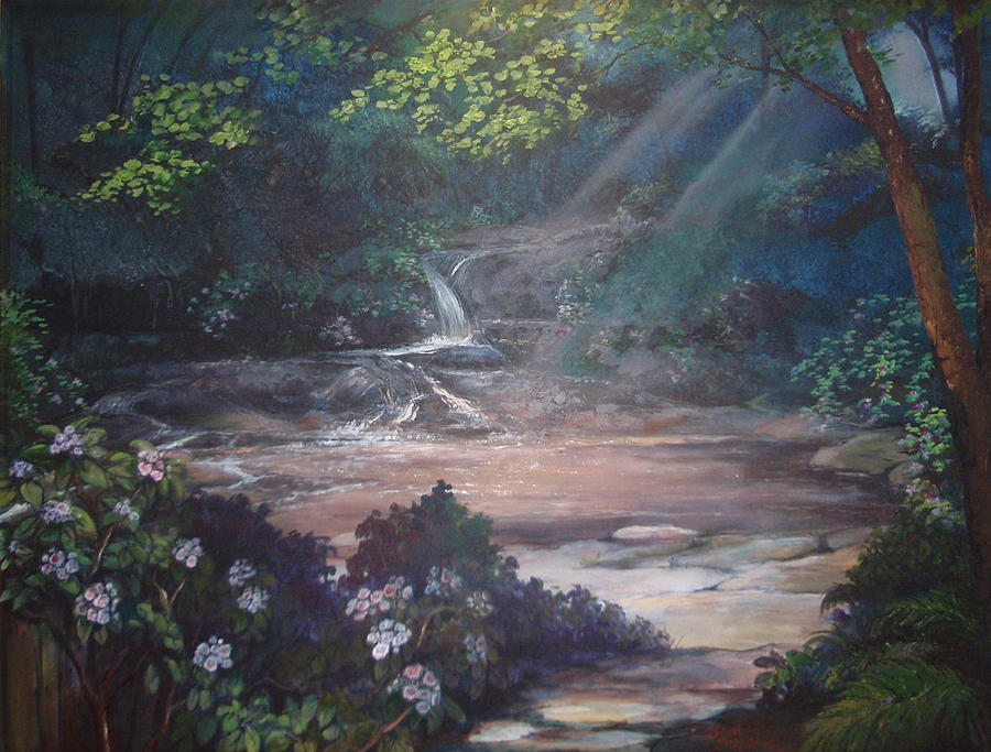 North Carolina Painting - Living Waters by Scott Stafstrom
