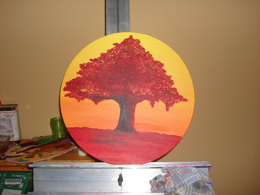 Liz Tree Painting by Laura  Espanol