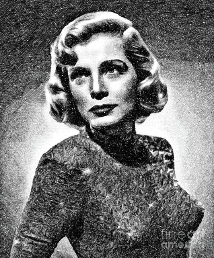 Lizabeth Scott, Vintage Actress By Js Drawing