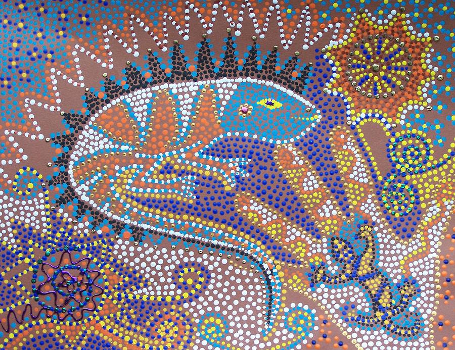 Lizard Painting - Lizard Dreaming by Vijay Sharon Govender