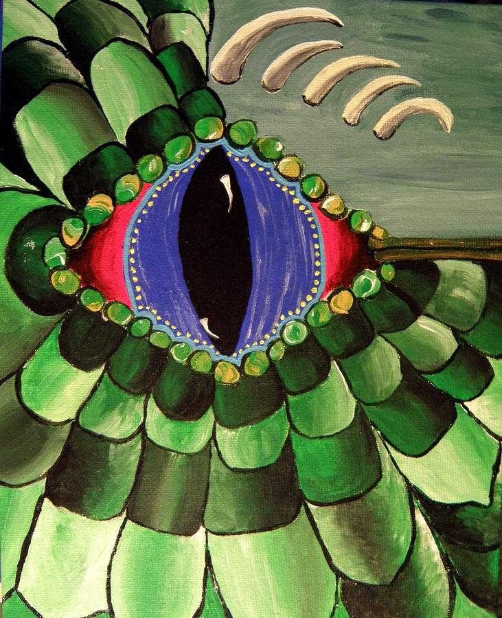 Eye Painting - Lizard Eye 4 by M Brandl