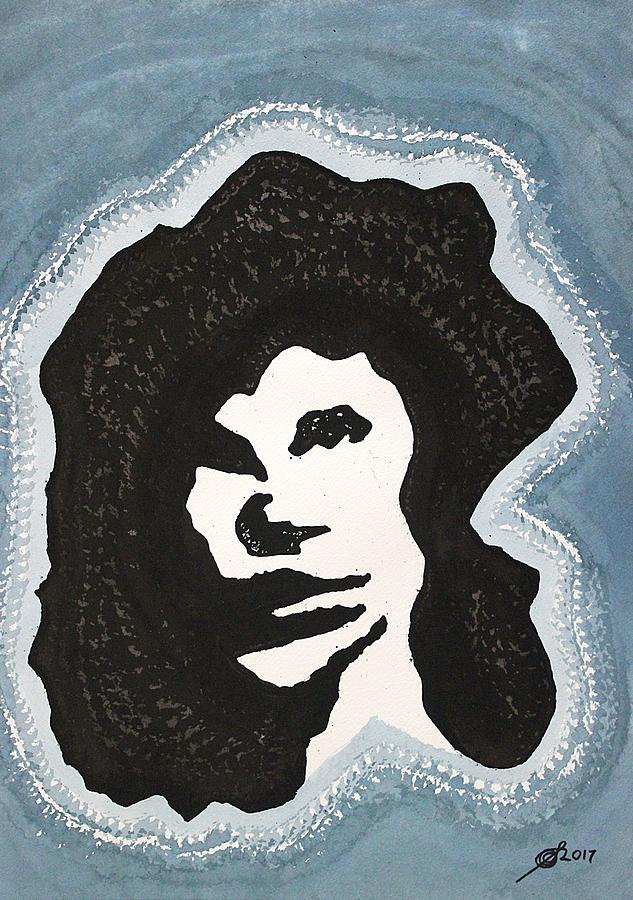 Jim Morrison Painting - Lizard King original painting by Sol Luckman