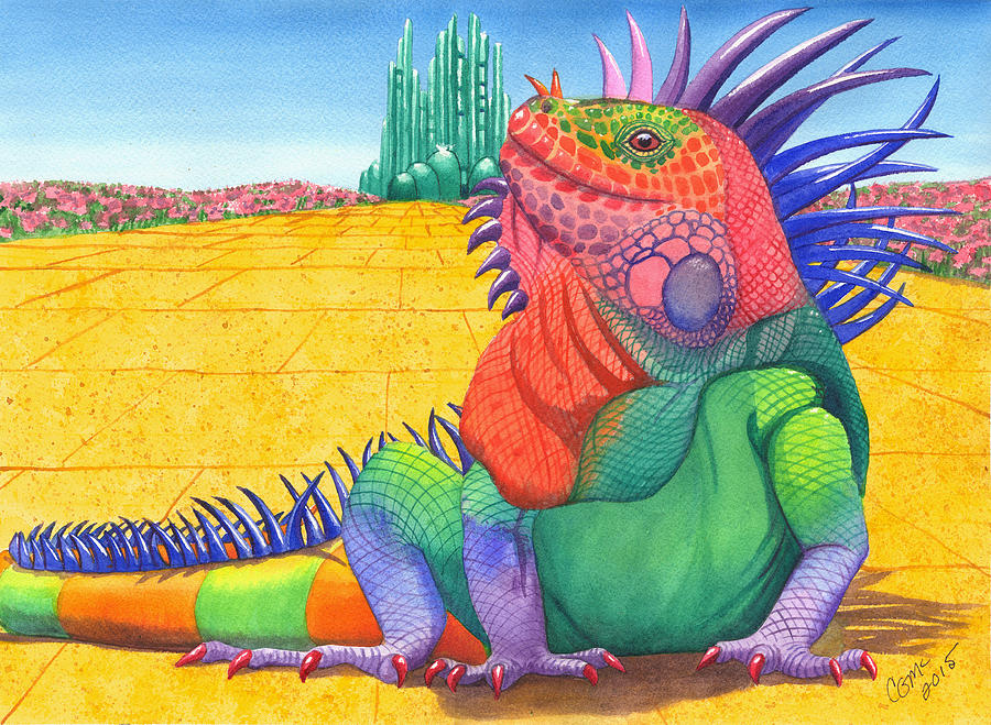 Lizard Painting - Lizard Of Oz by Catherine G McElroy