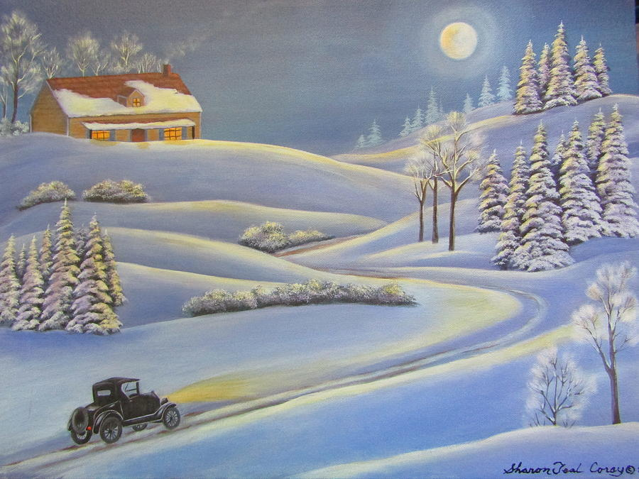 Lizzies Almost Home  Painting by Sharon Coray