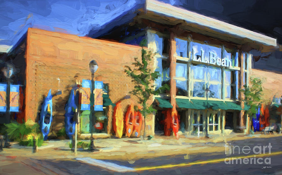 Ll Bean Store At The Promenade In Pa Mixed Media by Heinz G Mielke
