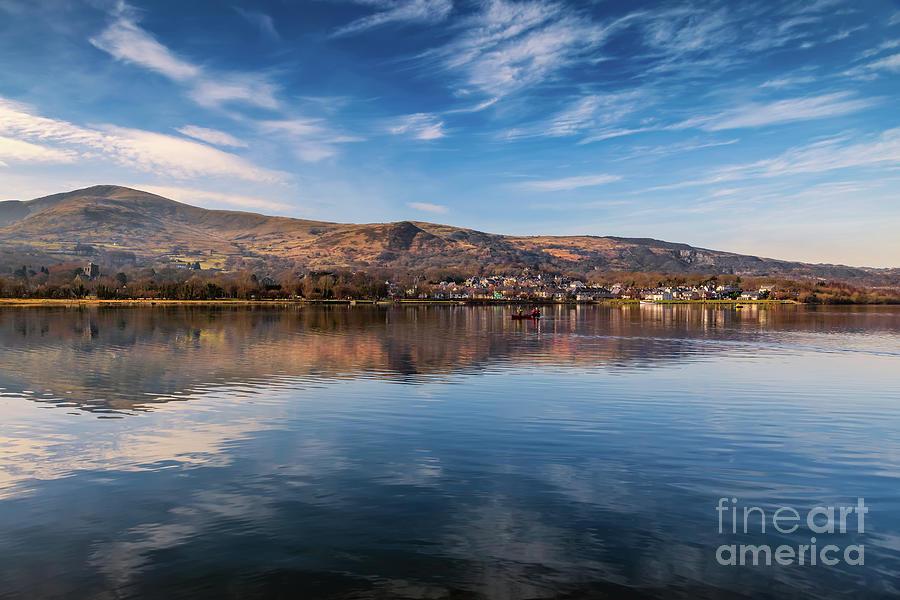 Snowdonia Photograph - Llanberis Lake Reflections by Adrian Evans