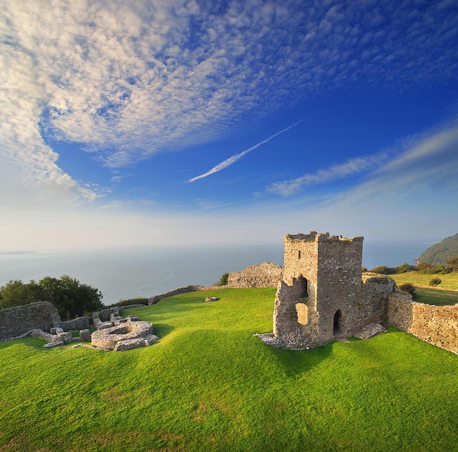 Castles Photograph - Llansteffan Castle 2 by Phil Fitzsimmons