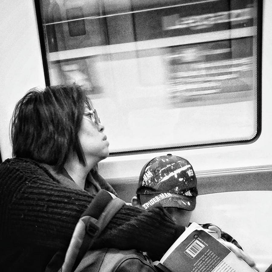 City Photograph - Llleeggaaazzz  #metro #subway #woman by Rafa Rivas