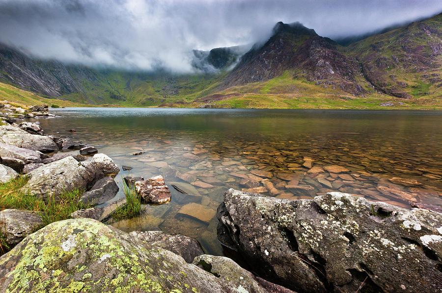 Wales Photograph - Llyn Idwal #1, Cwm Idwal, Snowdonia, North Wales by Anthony Lawlor