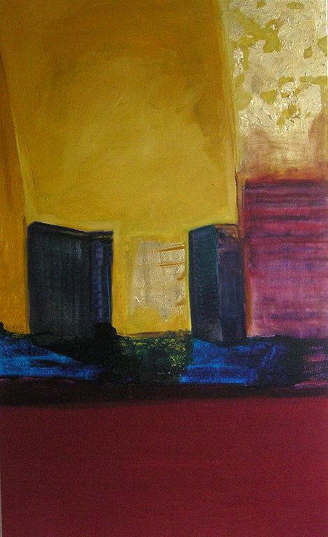 Urban Landscape Painting - Lo Sguardo Di Paolo by Paula Franca