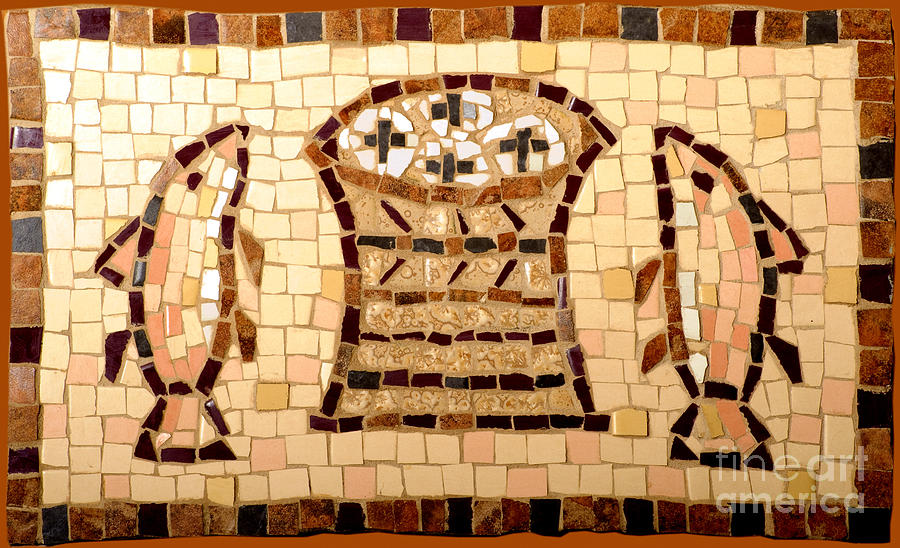 Mosaic Photo Photograph - Loaves And Fishes Mosaic by Lou Ann Bagnall