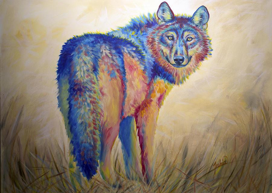 Wolf Painting - Lobo Legend by Teshia Art