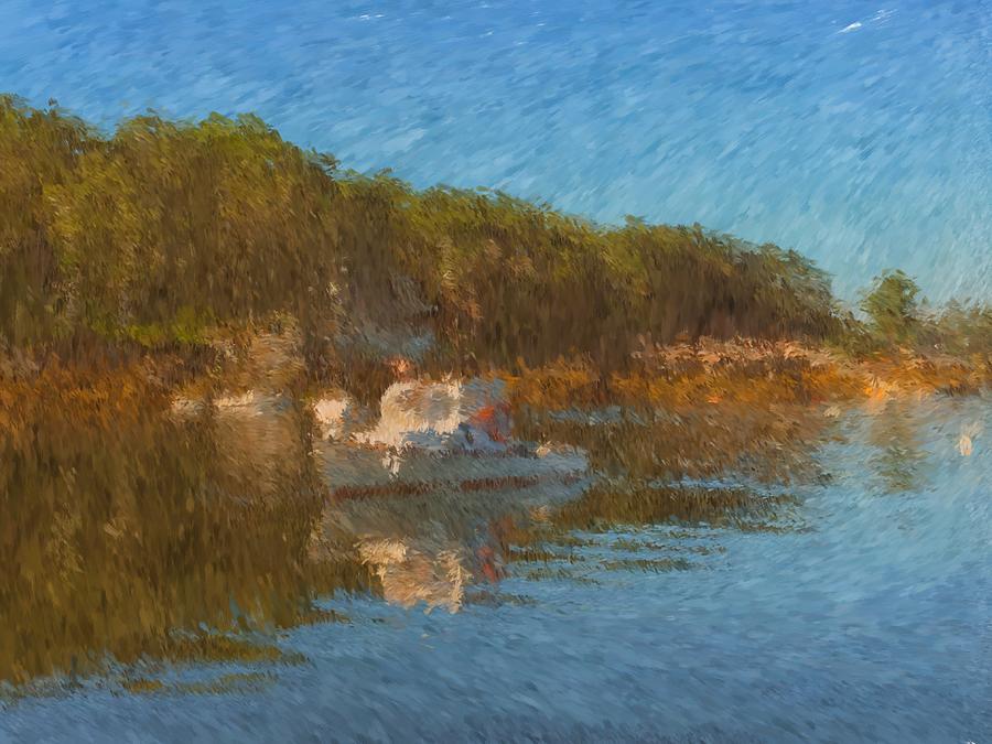Lobster Boat Painting - Lobster Boat Boothbay Harbor by Viktor Arsenov