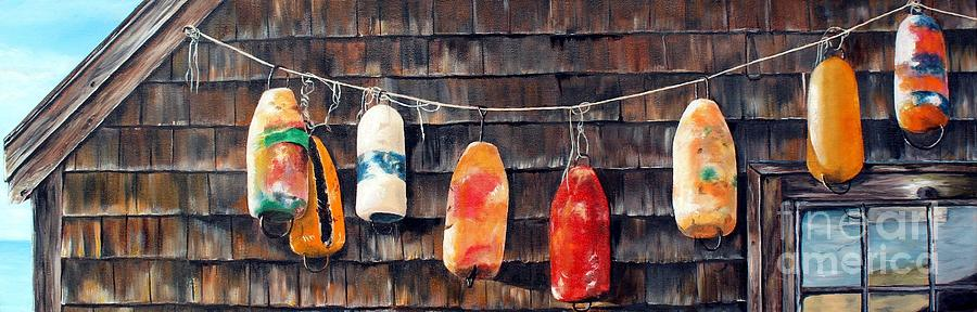 LOBSTER BUOYS, NOVA SCOTIA by Anna-maria Dickinson