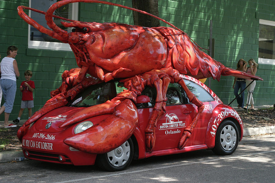 Crustacean Photograph - Lobster Car by Carl Purcell