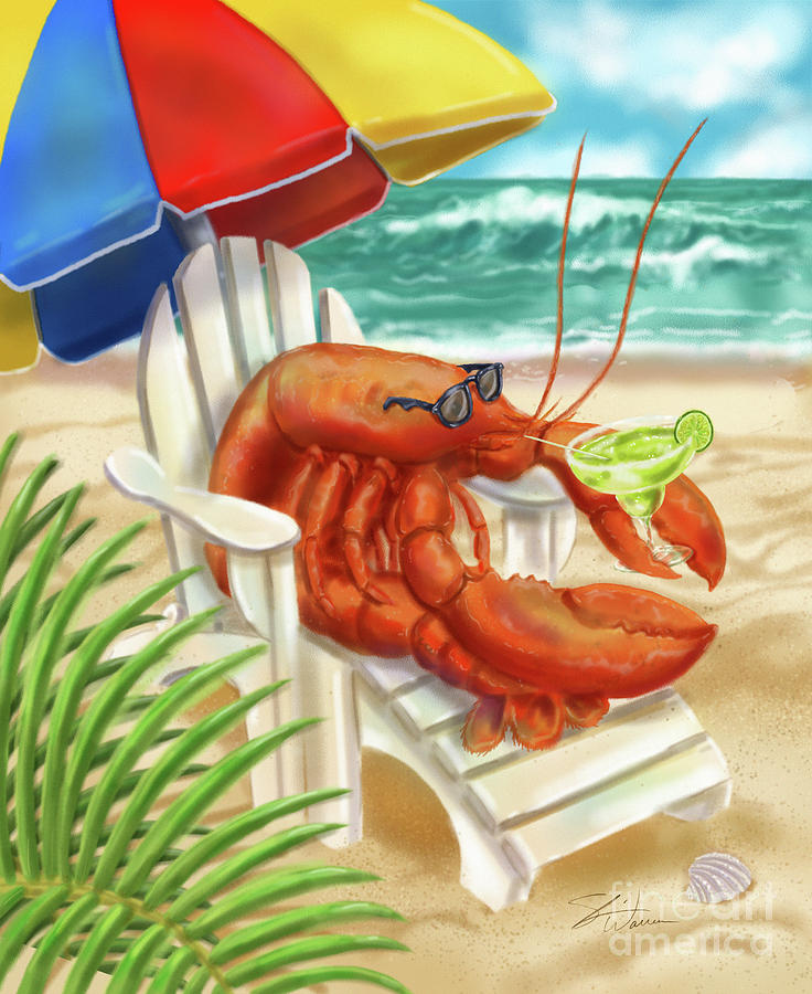 Lobster Drinking a Margarita by Shari Warren