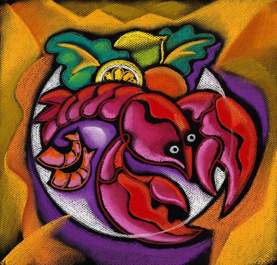 Lobster Painting by Leon Zernitsky