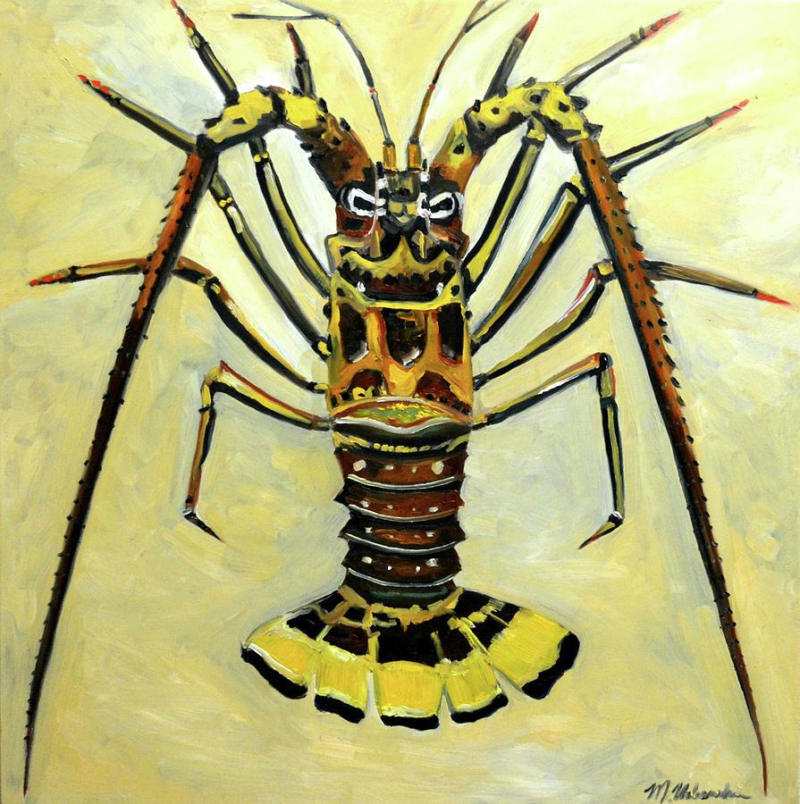 Florida Painting - Lobster by Monika Urbanska