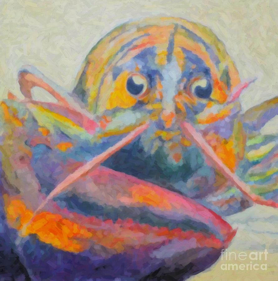 Lobster Painting - Lobster On The Loose  by Robin Wiesneth