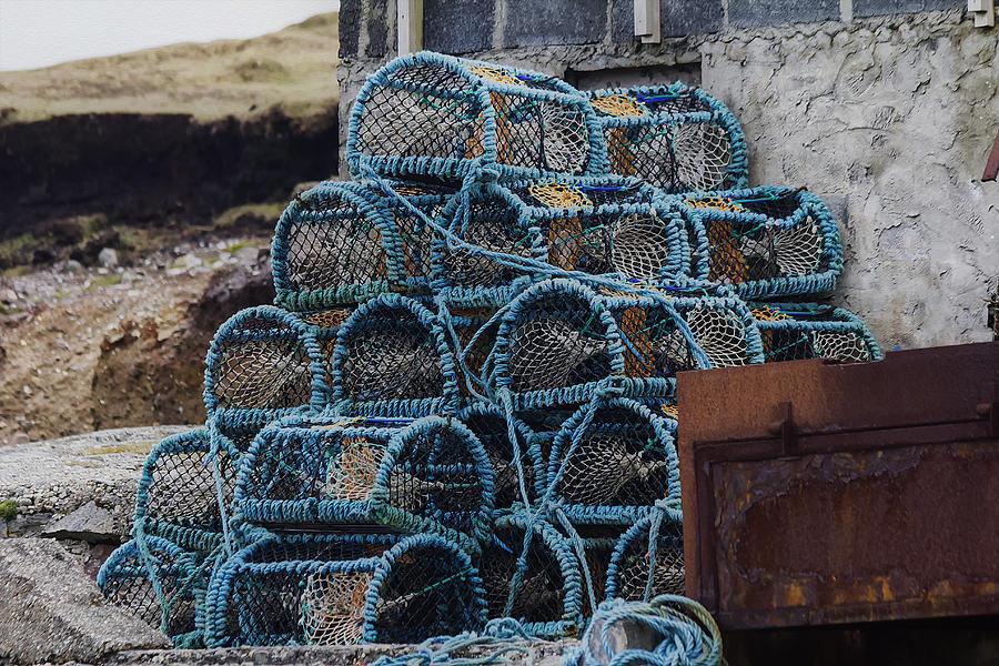 Lobster Photograph - Lobster Pots by Frank Fullard