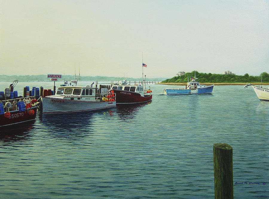 Boat Painting - Lobsters And Crabs by Bruce Dumas
