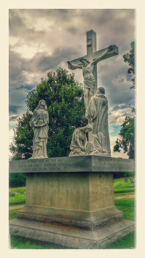 Cemetery Photograph - Local Cemetery Statue by Dustin Soph