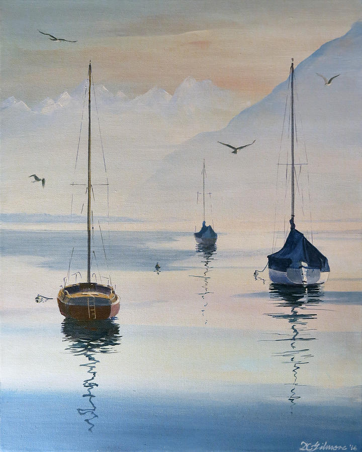 Locarno Boats in February-2 by David Gilmore
