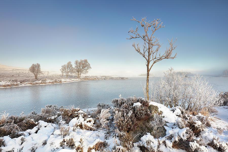 Glencoe Photograph - Loch Ba Winter by Grant Glendinning