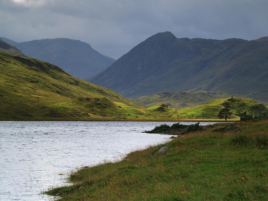 Water Photograph - Loch Beannacharain by Steve Watson