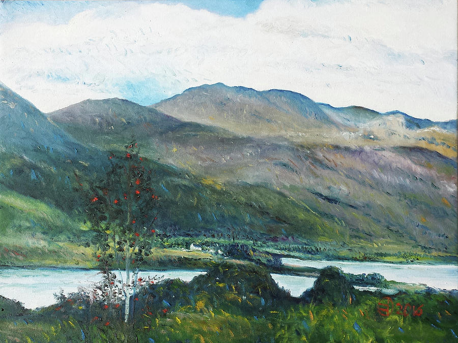Impressionism Painting - Loch Dun Luiche Donegal Ireland 2916 by Enver Larney