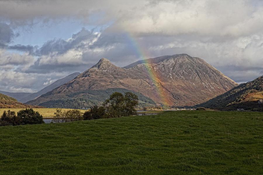 Rainbow Photograph - Loch Eilde Mor Rainbow by Jim Dohms