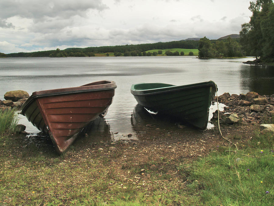Boats Photograph - Loch Knockie by Steve Watson