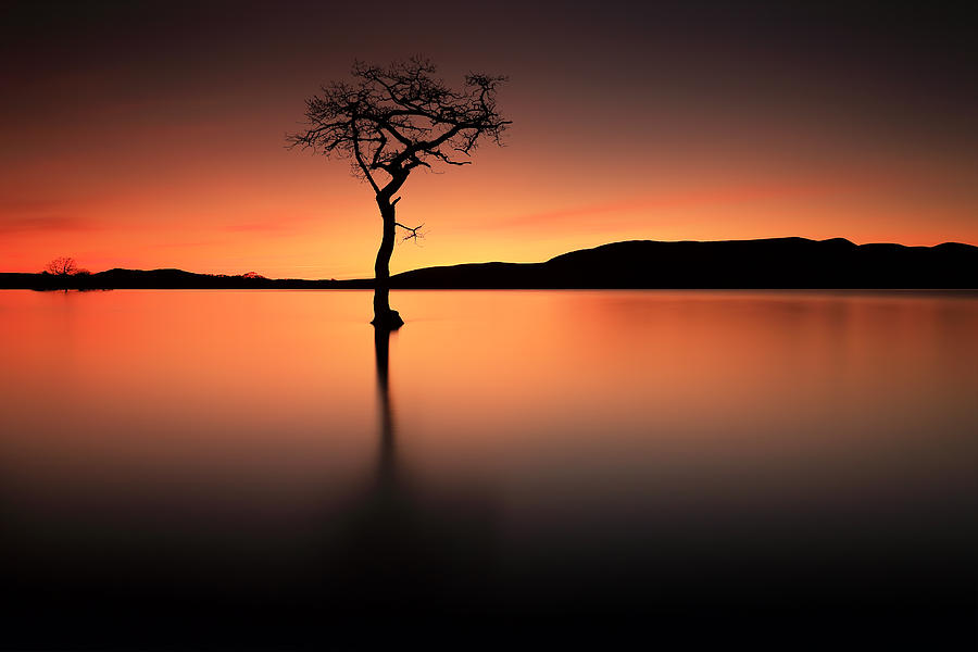 Loch Lomond Photograph - Loch Lomond Afterglow by Grant Glendinning