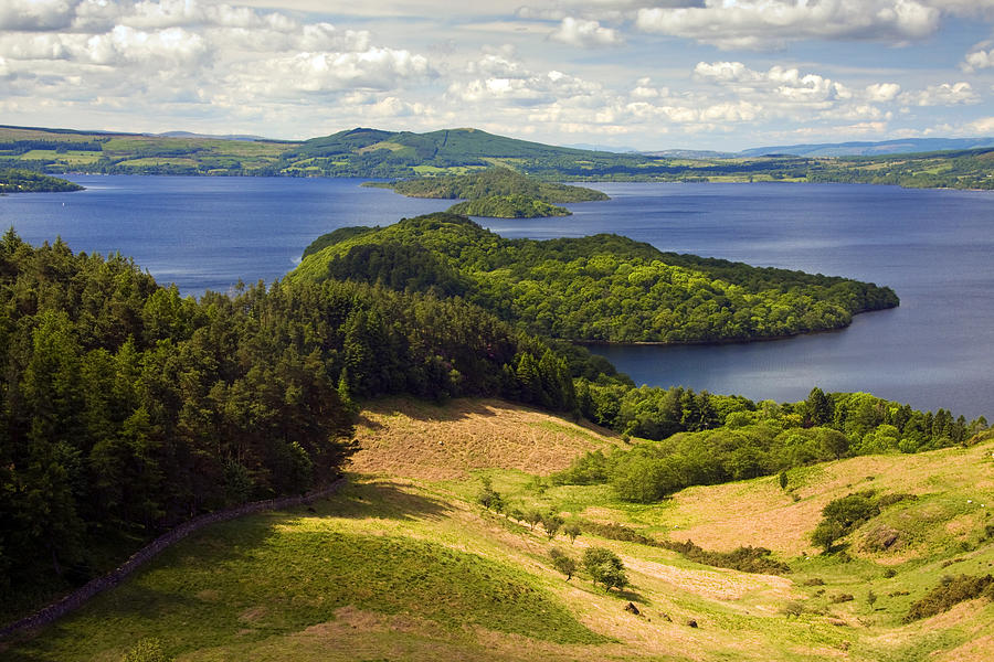 Scotland Photograph - Loch Lomond From Conic Hill by John McKinlay