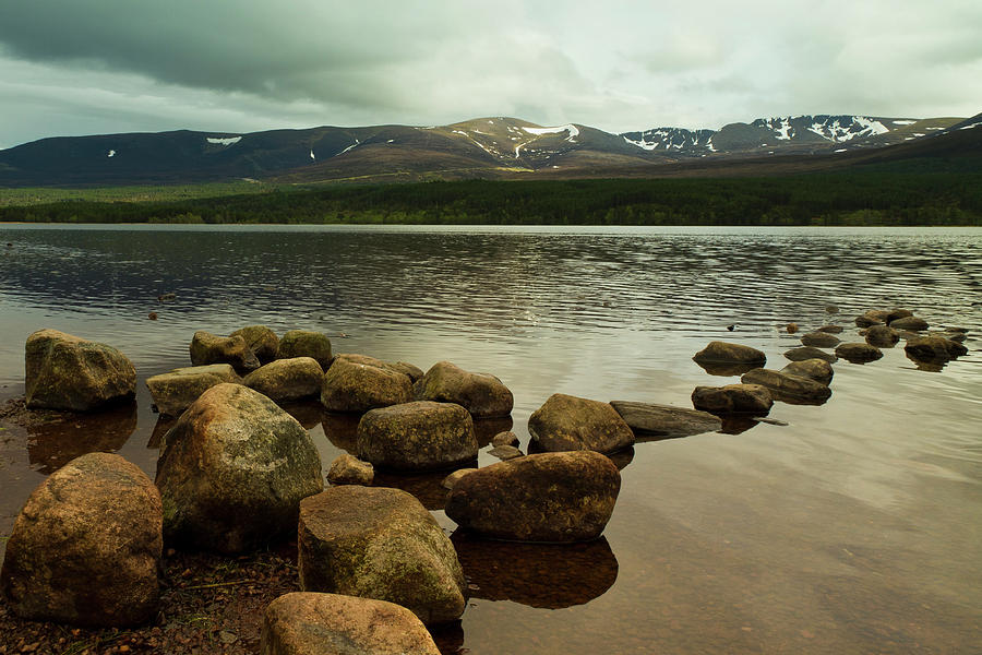 Cairngorms Photograph - Loch Morlich And The Cairn Gorms by Bill Buchan