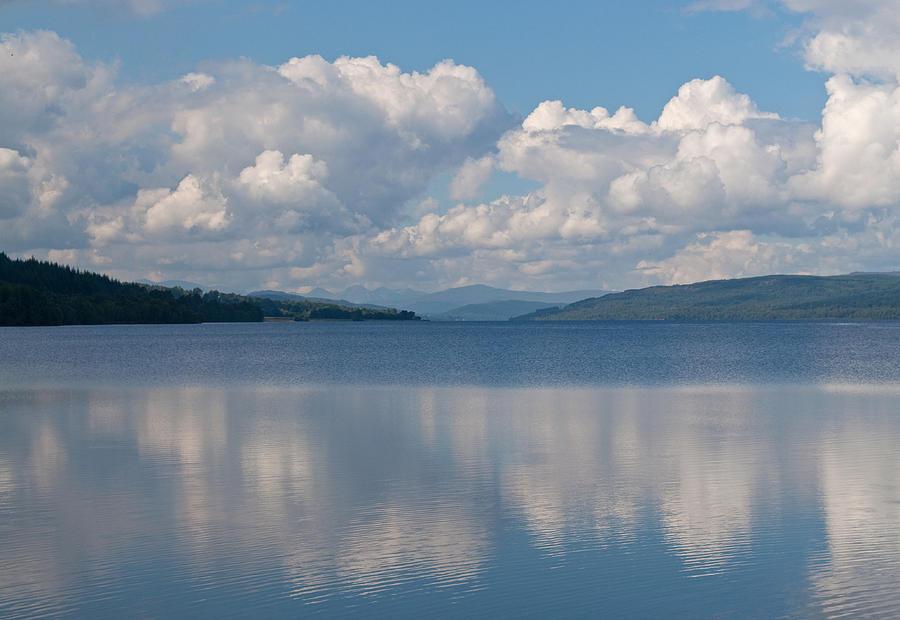 Loch Photograph - Loch Rannoch Clouds by Chris Thaxter