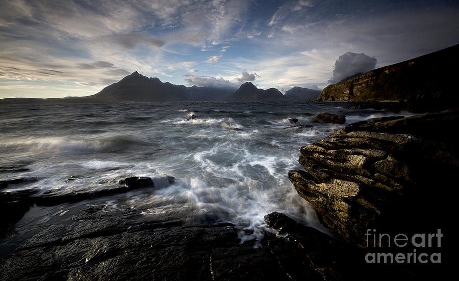 Skye Photograph - Loch Scavaig And The Cuillin by Roddy Atkinson