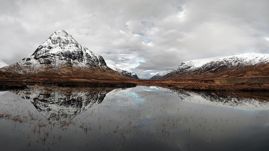 Glencoe Photograph - Lochan Na Fola Panorama by Grant Glendinning