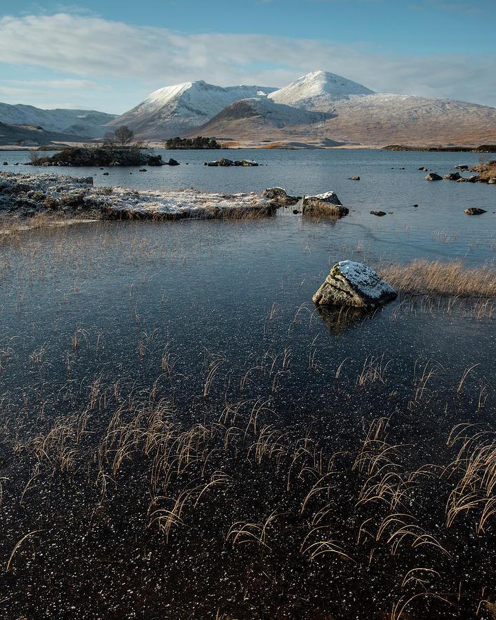 Rannoch Moor Photograph - Lochan Nah-achlaise, Rannoch Moor, Scotland by David Stanley