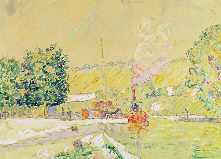 1900 Painting - Lock At Sannois by Paul Signac