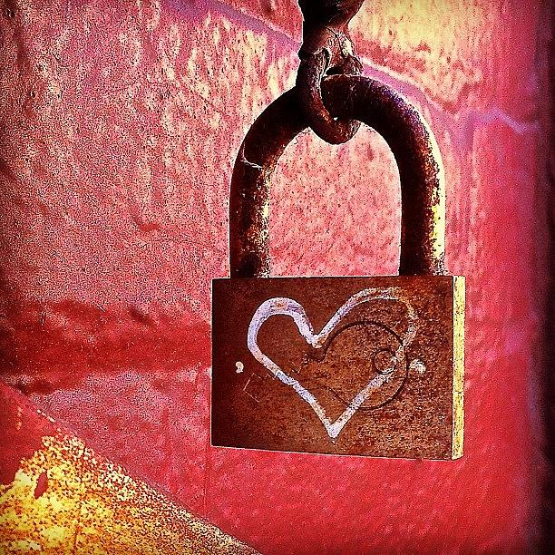 Lock Photograph - Lock/heart by Julie Gebhardt