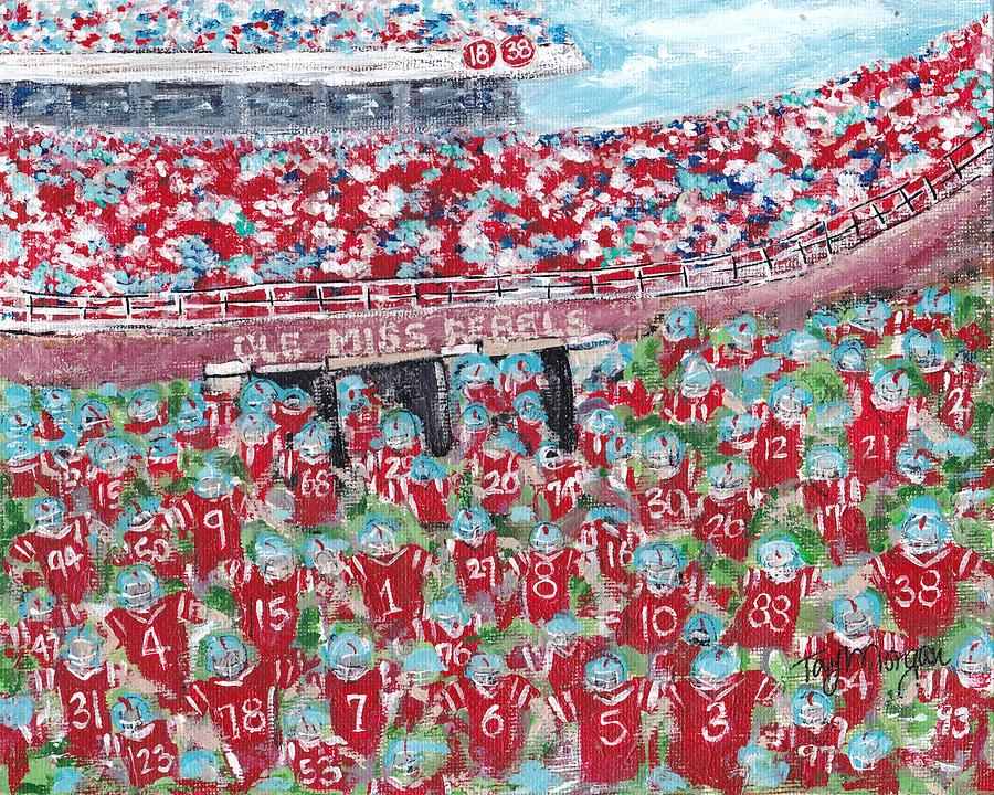 Ole Miss Painting - Lock The Vaught by Tay Morgan