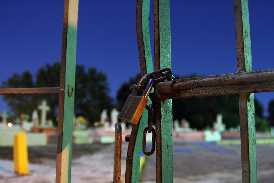 Cemetary Photograph - Locked For Eternity by Agustin Fas