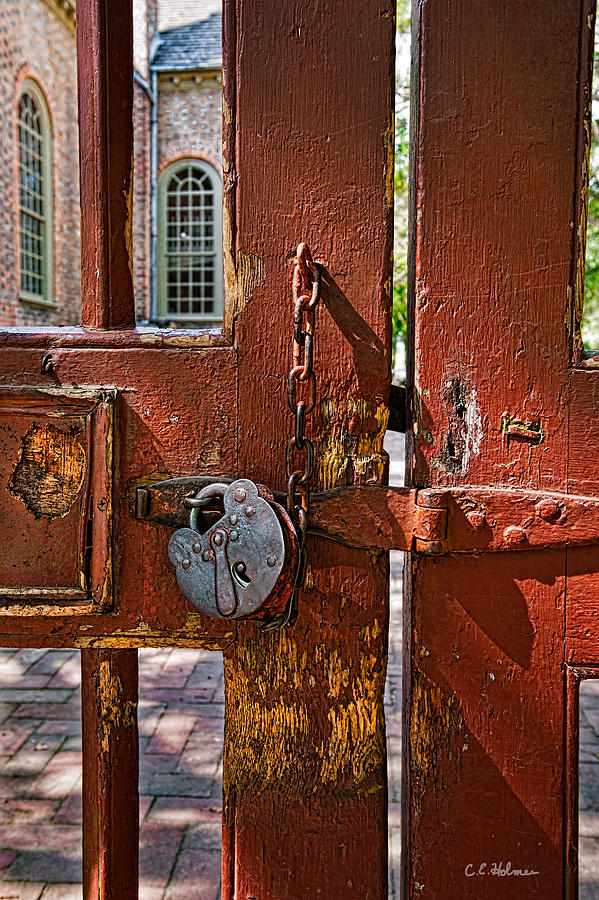Gate Photograph - Locked Gate by Christopher Holmes