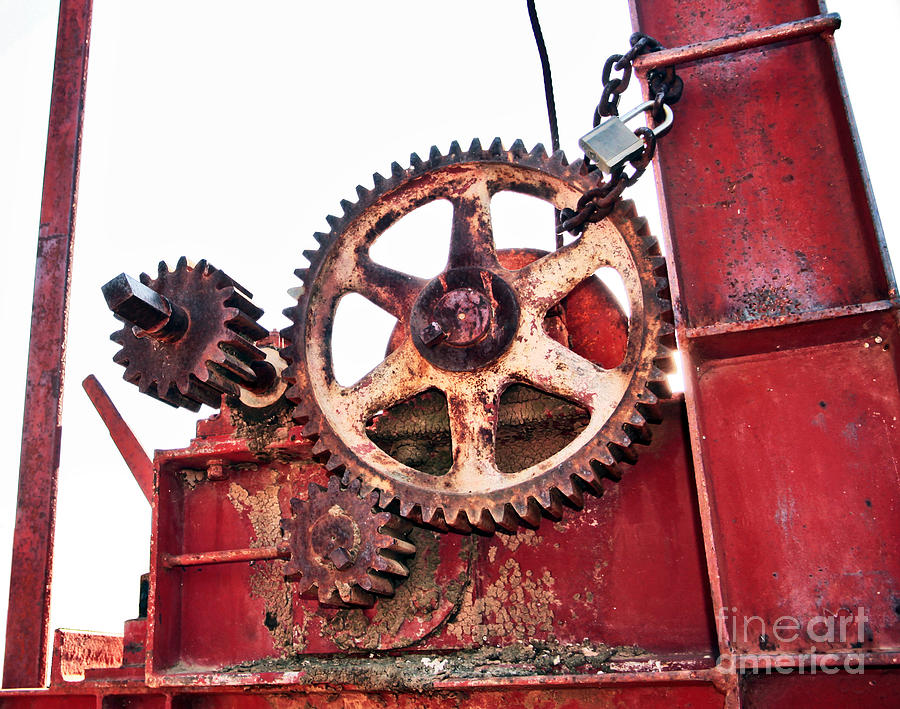 Winch Photograph - Locked In History by Stephen Mitchell