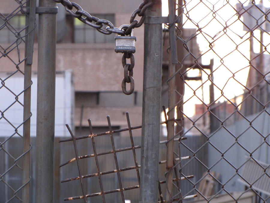 Chains Photograph - Locked Out by Annie Perez