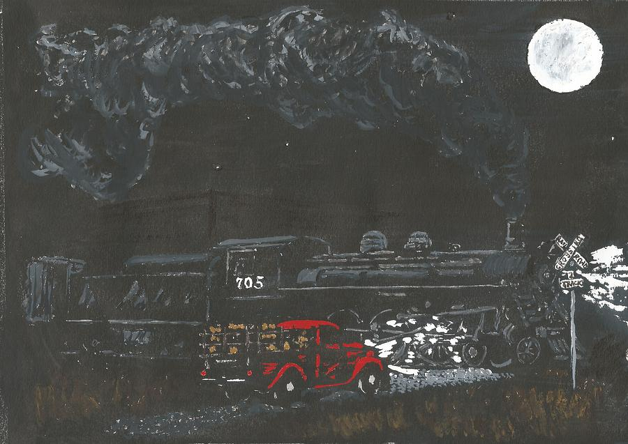 Steam Engine Painting - Locomotion by Dick Gallagher